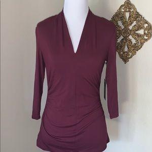 Ruby dusk front cut blouse